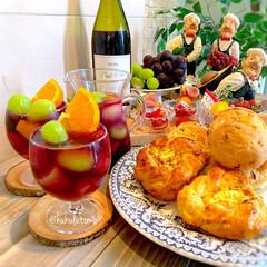 サングリア/赤ワイン/おしゃれ/時短レシピ/おうちカフェ/おうちご飯/... ❁おうちᑦᴬᶠᴱ#いつかのランチタイム …(1枚目)