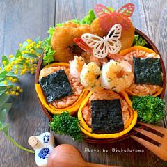 平成最後のお弁当/イカリング/オムロールにぎり/オムロール/お弁当作り/お弁当/... こんにちは:-) 平成最後のお弁当かな😁…