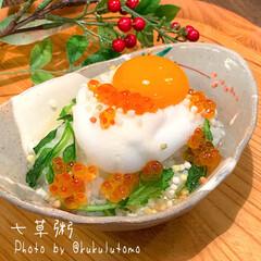 究極のTKG(クッキングトイ)を使ったクチコミ「無病息災を願って1月7日は七草粥を食べる…」(2枚目)