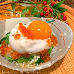 究極のTKG(クッキングトイ)を使ったクチコミ「無病息災を願って1月7日は七草粥を食べる…」(1枚目)