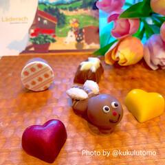 スイスチョコレート/ありがとう自分/年に一度のご褒美/高級チョコレート/レダラッハ/可愛いチョコ/... お久しぶりな投稿ですただいまです(✿´꒳…