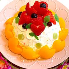 おうちカフェ/おうちcafé/初挑戦/リメイクケーキ/手作りケーキ/バレンタインケーキ/... 昨夜はじめてロールケーキを作ろうと 張り…(2枚目)