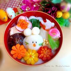 おうちごはんlover/あけましておめでとうございます/今年もよろしくお願いします/干支ごはん/お正月/おうちごはん/... あけまして    おめでとうございます🎍…(2枚目)