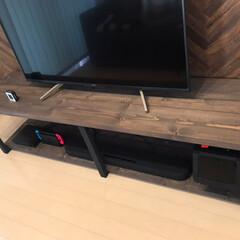 TVボード/家具/住まい/ウォールナット/木目/男前インテリア/... TVボード  大きめのが欲しかったけど無…