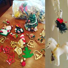 クリスマスオーナメント/フエルト雑貨/動物フエルト/お気に入り クリスマスのオーナメント、 子供が大きく…