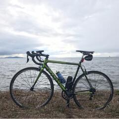 輪行/ロードバイク/琵琶湖