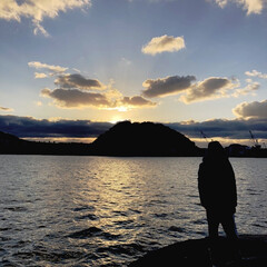 謹賀新年/思い出/あけおめ/冬/風景 初日の出を見に行った時の写真です