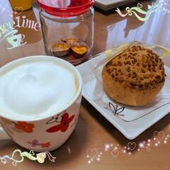 ミルクフォーマー/カフェラテ/おうちカフェ 本日のおうちカフェ✨ お友達からいただい…