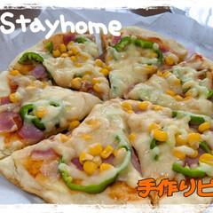 stayhome/おうちごはん/おうちカフェ 今日のランチは、ホットケーキミックスで作…