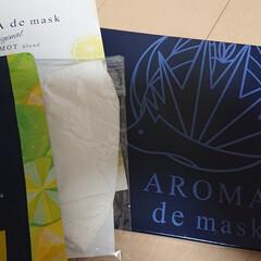 アロマdeマスク | AROMA de mask(アロマグッズ)を使ったクチコミ「遅くなりましたが… AROMA  de …」(1枚目)