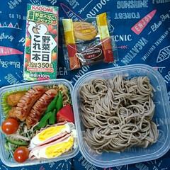 蕎麦/高校男子弁当/お弁当/フォロー大歓迎 おはようございます🤗 バタバタでお弁当作…