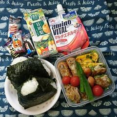 おやつ/マシュマロ/シーチキン/梅干し/🍙弁当/高校男子弁当/... おはようございます🙋  今日は🍙弁当です…