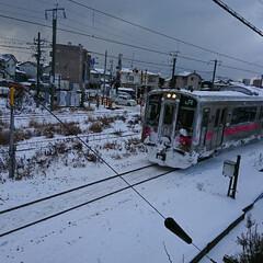 年末寒波/雪景色/二階窓/自宅 おはようございます(⌒0⌒)/~~ 寒い…