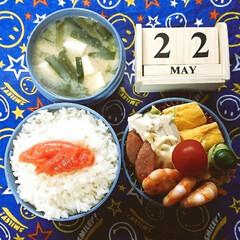 週末/雨降りな一日/お弁当/高校男子弁当/ランチ おはようございます🤗  金曜日‼️やっと…