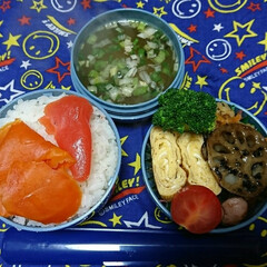サーモス/高校男子弁当/食事情/お弁当/フォロー大歓迎 おはようございます🤗  どんより曇り空の…