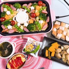 ワーキングマザー/ワーキングママ/3人姉妹/女の子ママ/野菜料理のレシピ/Brunoコンパクトホットプレート/... Bruno大活躍です🎀 🌸チーズフォンデ…