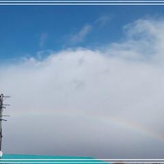 お出かけ/虹 こんにちわ😄  久しぶりに虹🌈を見ました…