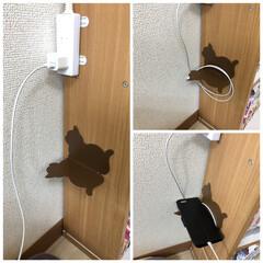 貼るだけDIY/DIY/100均/セリア お布団脇の床にコードがあったり携帯を床に…(2枚目)