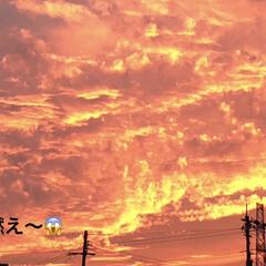 空/夕日 【🌆9/22は、燃えるような夕焼けでした…