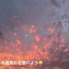 空/夕日 【🌆9/22は、燃えるような夕焼けでした…(2枚目)