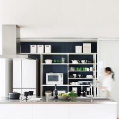 グッドア/フリモ/バスケット/スライドテーブル/引き出し/冷蔵庫/... キッチン収納+収納扉で使い勝手の良いスマ…