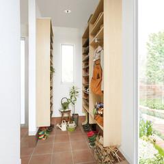 nankaiplywood/南海プライウッド/収納生活/収納/建材/内装材/... 玄関と隣接したシューズクロークをウォーク…