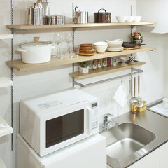 nankaiplywood/南海プライウッド/収納生活/収納/建材/内装材/... キッチン収納を壁に設置することで、シンク…