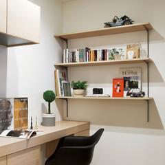 nankaiplywood/南海プライウッド/収納生活/収納/建材/内装材/... 意外とたくさんの収納物がある書斎やママコ…