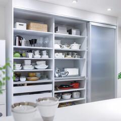 ユニモ2/スライドテーブル/引き出し/パールグレー/棚/隠す/... キッチン家電や食器、ダストボックスまでが…(2枚目)