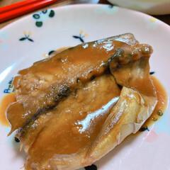 サバ味噌煮/豚肉/大根 今日の夕食です