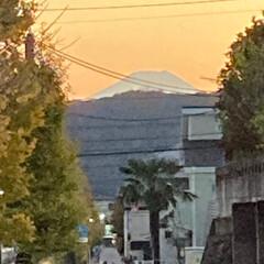 「夕暮れどきの富士山🗻」(1枚目)