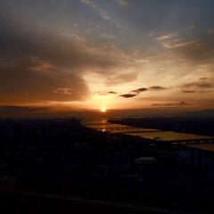 夕日/空中庭園/梅田/LIMIAおでかけ部/フォロー大歓迎/おでかけ/... 空中庭園から見る空の変化がとても綺麗でし…