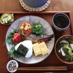 和食器/和食/手作りごはん/お家ごはん/朝ごはん/LIMIAごはんクラブ/... 朝ごはん🥢 ❁さわらの西京焼き ❁マ…