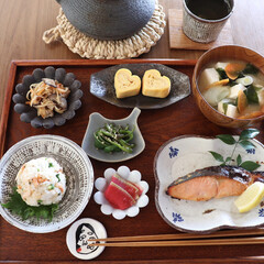 和食器/和食/お家ごはん/おうちごはん部/朝ごはん/LIMIAごはんクラブ/... おはようございます!  卵を割ったら双子…