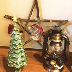 星/ランタン/クリスマス/ツリー 新築祝いにもらった小さいツリー、シンプル…