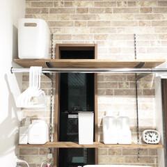 可動棚収納/可動棚/洗濯機ドラム式/洗濯機収納/洗濯機の上/洗濯機ラック/... 洗濯機上は可動棚をDIYで設置しています…