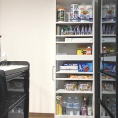 冷蔵庫の横/冷蔵庫の横収納/隙間収納/隙間ワゴン/limiaキッチン同好会/キッチン収納/... ストック収納です。幅20cmの収納だけど…