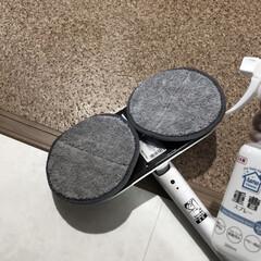 シー・シー・ピー CCP 回転モップクリーナーNeo | モップ 省スペース 電動モップ 掃除機 | CCP(モップ、雑巾)を使ったクチコミ「脱衣所のクッションフロアのお掃除。 重曹…」(1枚目)