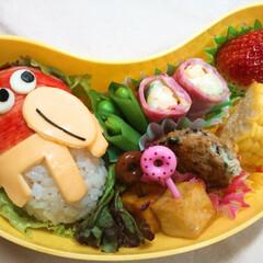 キョロちゃん/キャラ弁/息子弁当/幼稚園弁当 おはようございます! 息子タチ、期末テス…