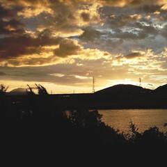 あけおめ/フォロー大歓迎/風景 夕立です 綺麗だったのでパシャリ📷✨