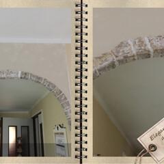発泡スチロールレンガ/アーチ垂れ壁/100均/セリア/ダイソー/リノベーション