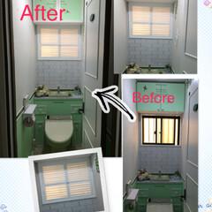 窓枠DIY トイレをリノベーションしたら窓枠が浮いて…
