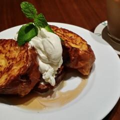 フレンチトースト/フォロー大歓迎/フード お気に入りフレンチトースト 近所のカフェ…