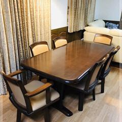大塚家具/お気に入り/住まい/暮らし/我が家のテーブル 18年前に新築時に購入したダイニングテー…