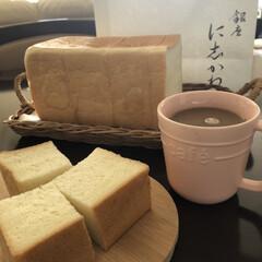 パン大好き/美味しいもの好き/高級食パン/銀座 に志かわ 久しぶりに陽射し☀️.°が出たので街へ🚗…