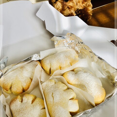 焼きたて美味しい/手作りパン/クリームたっぷり/パン作り 本日パン教室のレッスン🍞 白いクリームパ…