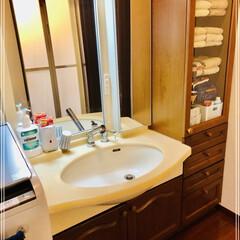ミューズノータッチ泡ハンドソープ本体キッチン 250ml(ハンドケア)を使ったクチコミ「うちの洗面所🌿🌿🌿 必要最小限なものしか…」