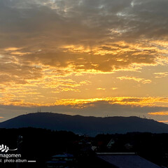奈良県/生駒山/秋空 生駒山と秋空  とても綺麗な夕暮れです …