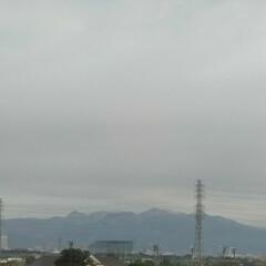 風景 毎朝、職場の屋上テラスで遠く浅間山が見え…