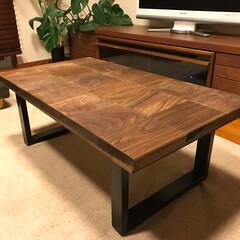 ローテーブル/端材/マスターウォール/DIY 初めてDIYに挑戦しました。    出来…